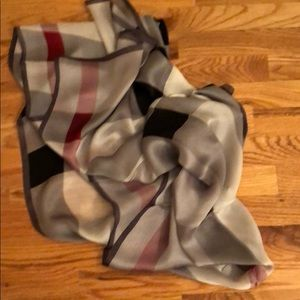 Authentic Burberry 100% silk black scarf